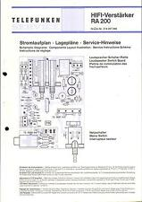 Telefunken Service Schaltplan für RA 200    .