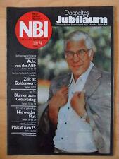 NBI 38- 1974 3* Willi Schwabe Pilze IGA Erfurt Gottleuba Berliner Rathausuhr ABF