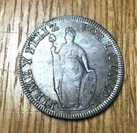 1835 MM Peru 8 reales silver republic republican Lima