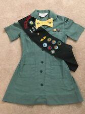 Vintage 1960s Junior Girl Scouts Uniform Sash Bow Pins Patches Huron Valley MI