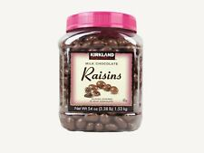 NEW SEALED KIRKLAND MILK CHOCOLATE RAISINS 3.4LB FREE WORLDWIDE SHIPPING