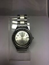 "1999 Swiss Swatch Watch Irony ""Happy Joe Silver"" YGS413G New Battery"