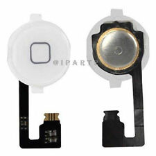 Home Menu Button Flex Cable + Key Cap assembly for Apple iPhone 4 4G (White)