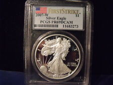 2007W Silver Eagle Proof PCGS PR69DCAM First Strike  Quite Clean D-245