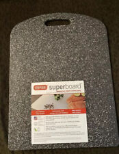 Dexas Superboard Cutting Board, 12x16 inches Gray And White Color