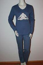 "Triumph Pyjama Schlafanzug ""Sets AW16 PK RABBIT"" Gr. 38 blau Loungewear mit Hase"