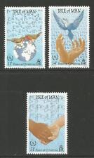 Isle of Man 1986 International Peace Year-Attractive Topical (318-20) Mnh