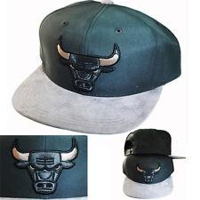 Mitchell & Ness NBA Chicago Bulls Buttery Dark Grey Snapback Hat grey Visor Cap