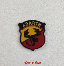 Abarth Sports Auto Kunst Abzeichen Bestickt Eisen oder Aufnäher