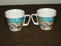 VINTAGE KITCHEN 2 THERMO SERV PLASTIC SWISS MISS HOT COCOA DRINKING CUPS