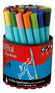 Berol by Paper Mate Colour Fine Pen Good For Adult Colouring Book Pack of 42