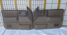 86-94 Chevy S10 Blazer Jimmy Sonoma Left Right TAN Leather Power Door Panel SET