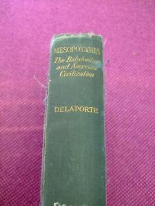 "Vintage Book ""Mesopotamia"" ""The Babylonian & Assyrian Civilization"". 1925"