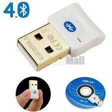USB Wireless Bluetooth 4.0 CSR Dongle Adapter Audio Transmitter XP vista win7/8