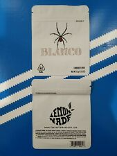 25 pack BLANCO  Proof Mylar Resealable Bags  4x3 W/Labels