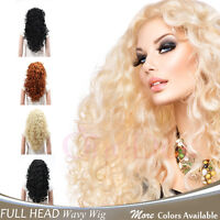 OneDor Fashion Long Hair Natural Curly Wavy Full Head Wigs Cosplay Costome Party