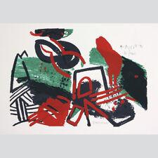 Antal Lux. estriaciones. abstracta en color composición. farbserigraphie.