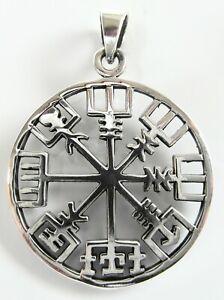 Sterling Silver 925  Vegvisir  Asatru  Compass Celtic  Pendant    !!     New  !!