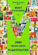 Plaatfout catalogus Mast (laatste editie 2013) met 3889 plaatfouten