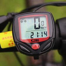Impermeable LCD Cuentakilómetros Velocímetro Bicicleta Bici Odometer Speedometer