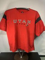 Champion NCAA Men's Short Sleeve Graphic T-Shirt, Utah Utes, red, 2XL