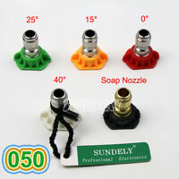 "5.0 GPM Pressure Washer Spray Nozzles Tip Set Variety Degrees 1/4"" Quick Connect"