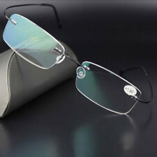 Ultralight Titanium Rimless Rectangular Reading Glasses Spectacles Eyeglass