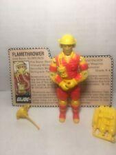 GI JOE Vintage ARAH figure 1984 BLOW TORCH! Cobra, YO JOE Near Complete