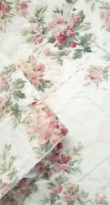 Simply Shabby Chic Quilt Floral - White Pink Blossoms Cotton Queen Size