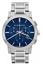Burberry Chronograph Blue Dial Stainless Steel Mens Watch BU9363  822138040211