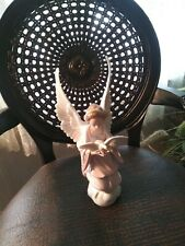 "Lladro 6131"" Angel Of Peace"" holding dove/bird with chipped wing"