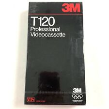 3M Professional Videocassette New Sealed 2 Hour T-120 VHS Blank Tape