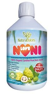 Naturaljuices LoveNoni Organic Certified Pure Noni Juice 500ml Free measure cup!