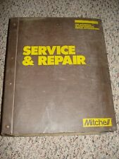 1981 - 1985 Mitchell Service & Repair Manual Domestic Cars Electrical