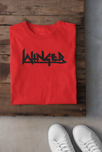 WINGER RED T SHIRT 100% COTTON NEW WITH VINYL LOGO