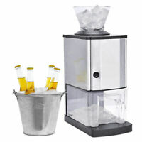 Electric Stainless Steel Ice Crusher Snow Cone Shaver Maker Professional New