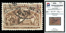 Scott 234 1893 5c Columbian Issue Used Graded XF 90 with PSE CERTIFICATE!