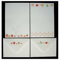 NEW Design - Cute Kawaii Coffee Latte Cafe Letter Writing Paper Stationery Set