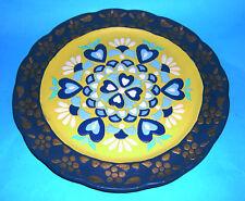 Art Pottery - Ceramica Marquee - Attractive Raised Hearts Design Plate