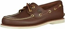 Timberland Men's Classic 2-Eye Boat Shoe, Dark Brown, 8.5 M