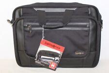 """New Samsonite Premium Thin & Light 15.6"""" Laptop Case Messenger Bag Black"""