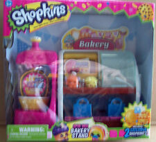 SHOPKINS SPIN MIX BAKERY STAND SET + 2 EXCLUSIVE SHOPKINS