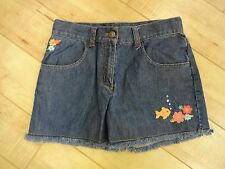 Girl Gymboree Tropical Garden Blue Denim Shorts 10 EUC