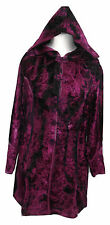 JORDASH Bohemian Embroidered Velvet Purple/Plum Hooded Jacket Freesize 12-16