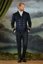 Ralph Lauren Purple Label Navy Wool Admiral Military Blazer Coat New $2995