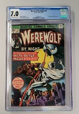 Werewolf By Night #33 - CGC 7.0 - 2nd Appearance of Moon Knight. - New Case