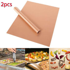 2 COPPER UNIVERSAL OVEN COOKER LINER BBQ GRILL LINING REUSABLE BARBECUE MAT