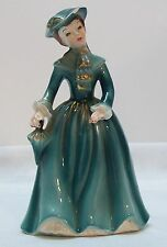 Woman in Fancy Dress with Umbrella Ms Laureen Porcelain Figurine Vintage