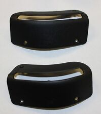 1984-1989 CONVERTIBLE MUSTANG NEW SEAT BELT BEZELS BLACK SOLD AS A PAIR