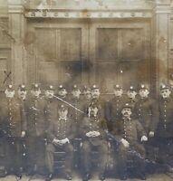ORIGINAL- OCCUPATIONAL CABINET PHOTO (FIREMEN at FIREHOUSE) c1880 NEW YORK CITY